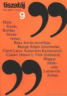 Vörös László - Tiszatáj 1981. szept. 9. szám [antikvár]