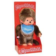 Monchhichi - Klasszikus fiú kék előkével 20cm