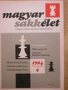 Bilek István - Magyar Sakkélet 1984. április [antikvár]