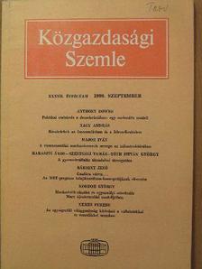 Bársony Jenő - Közgazdasági Szemle 1990. szeptember [antikvár]