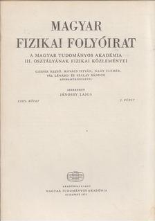 Jánossy Lajos - Magyar fizikai folyóirat XXIII. kötet 2. füzet [antikvár]