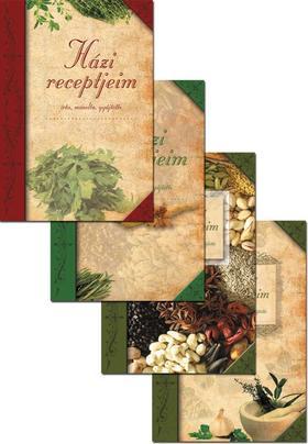 Házi receptjeim (4 féle borítóval)