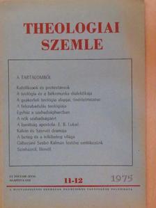 Bolyki János - Theologiai Szemle 1975. november-december [antikvár]