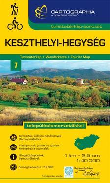 """Cartographia - Keszthelyi-hegység turistatérkép """"SC"""""""