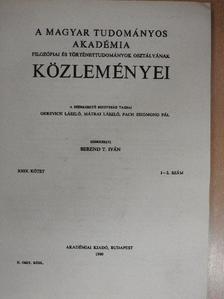 Benczéné Nagy Eszter - A Magyar Tudományos Akadémia Filozófiai és Történettudományi Osztályának közleményei 1980/1-2. [antikvár]