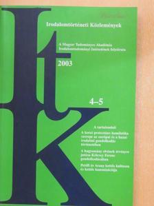 Bódi Katalin - Irodalomtörténeti Közlemények 2003/4-5. [antikvár]