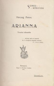 Herczeg Ferenc - Arianna [antikvár]