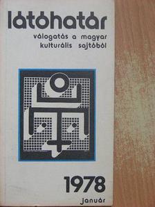 Ágh István - Látóhatár 1978. január [antikvár]