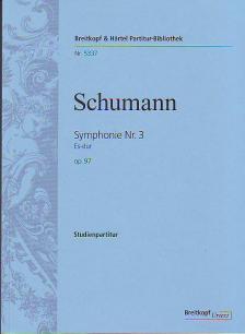 Schumann, Robert - SYMPHONIE NR.3 ES-DUR OP.97 STUDIENPARTITUR URTEXT (JOACHIM DRAHEIM)