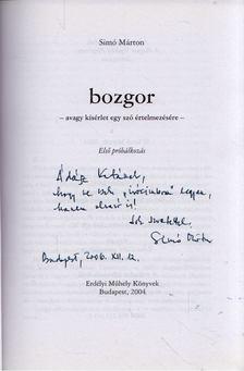 Simó Márton - Bozgor (dedikált) [antikvár]