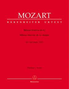 MOZART, W,A, - MISSA BREVIS IN G KV 140 (ANH.235d) PARTITUR URTEXT (WALTER SENN)