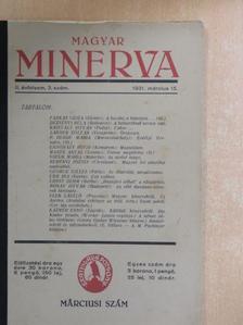 Dezsényi Béla - Magyar Minerva 1931. március 15. [antikvár]