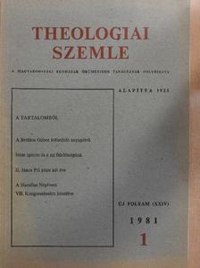 Adalbert Krims - Theologiai Szemle 1981/1. [antikvár]