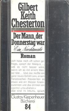 Gilbert Keith Chesterton - Der Mann, der Donnerstag war [antikvár]