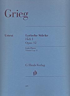 GRIEG - LYRISCHE STÜCKE HEFT I OP.12 FÜR KLAVIER URTEXT (EINAR STEEN-NÖKLEBERG & ERNST GÜNTER HEINEMANN)