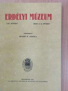 Ady László - Erdélyi Múzeum 1947/1-4. [antikvár]