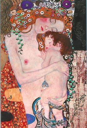 Pannónia Nyomda Zrt. - Gustav Klimt képeslap - Die drei Lebensalter/A három életkor 1905