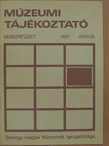 Horváth János - Múzeumi tájékoztató 1987. június [antikvár]