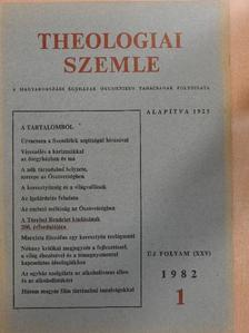 Békési Andor - Theologiai Szemle 1982/1. [antikvár]