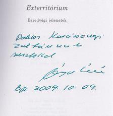 Végel László - Exterritórium (Dedikált) [antikvár]