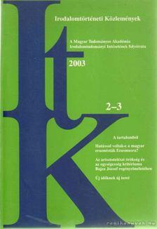 Szörényi László - Irodalomtörténeti Közlemények 2003. CVII. évfolyam 2-3. szám [antikvár]