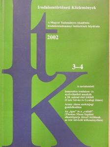 Bessenyei György - Irodalomtörténeti Közlemények 2002/3-4. [antikvár]