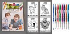 ÜGYV-SZERV Kft - CREATIVE JUNGLE gyermek és felnőtt kifestő egy könyvben + 8 tűhegyű golyóstoll különböző színben