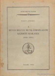 Nagy József - A heves megyei munkásmozgalom kezdeti szakasza (1850-1914.) [antikvár]