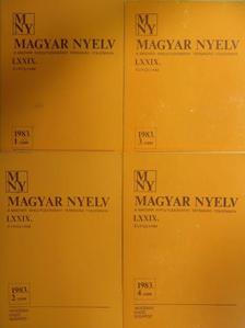 Farkas Mária - Magyar Nyelv 1983/1-4. [antikvár]