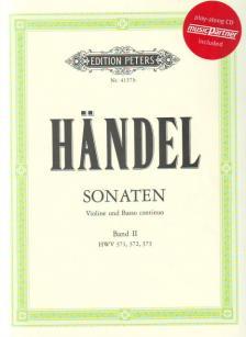 HAENDEL - SONATEN FÜR VIOLINE UND BASSO CONTINUO BAND II: HWV 371, 372, 373, PLAY-ALONG CD INCLUDED