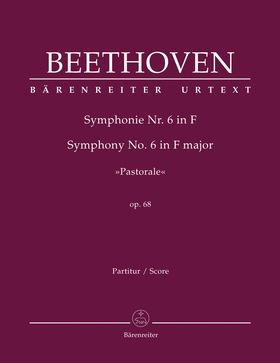 "BEETHOVEN - SYMPHONIE NR. 6 IN F ""PASTORALE"" OP.68 PARTITUR URTEXT (JONATHAN DEL MAR)"