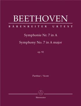BEETHOVEN - SYMPHONIE NR. 7 IN A OP.92 PARTITUR URTEXT (JONATHAN DEL MAR)