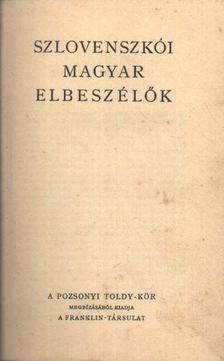 Szlovenszkói magyar elbeszélők [antikvár]