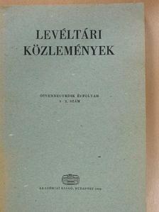 Draskóczy István - Levéltári Közlemények LIV/1-2. [antikvár]