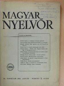 Antal László - Magyar Nyelvőr 1962. január-március [antikvár]