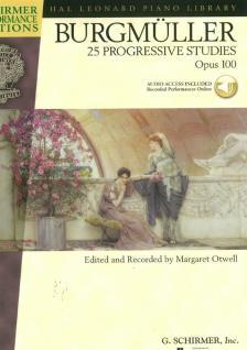 BURGMÜLLER - 25 PROGRESSIVE STUDIES OP.100, CD INCLUDED