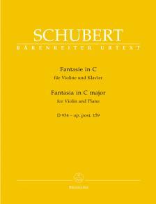 Franz Schubert - FANTASIE IN C FÜR VIOLINE UND KLAVIER D 934 - OP.POST.159 URTEXT (HELMUT WIRTH)