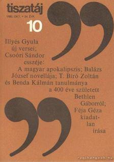 Vörös László - Tiszatáj 1980. október 34. évf. 10. [antikvár]