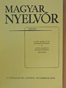 Adamikné Jászó Anna - Magyar Nyelvőr 1993. október-december [antikvár]