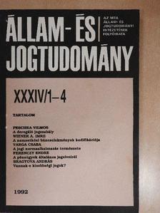 Berényi Sándor - Állam- és Jogtudomány 1992/1-4. [antikvár]