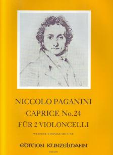 PAGANINI, NICCOLO - CAPRICE NO.24 FÜR 2 VIOLONCELLI HERAUSGEGEBEN VON WERNER THOMAS.MIFUNE