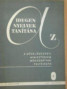 Cser Sándorné - Az idegen nyelvek tanítása 1961. augusztus [antikvár]
