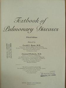 Donald B. Louria - Textbook of Pulmonary Diseases [antikvár]