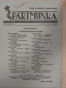 Gondos Ernő - Pártmunka 1946. május 15. [antikvár]