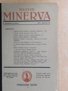 Bárd Oszkár - Magyar Minerva 1931. február 15. [antikvár]
