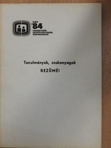 Dr. Ancsel Éva - Tanulmányok, szakanyagok rezüméi [antikvár]