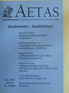 Csikány Tamás - Aetas 2007/4. [antikvár]