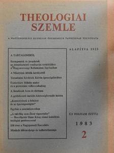 Bitskey István - Theologiai Szemle 1983/2. [antikvár]