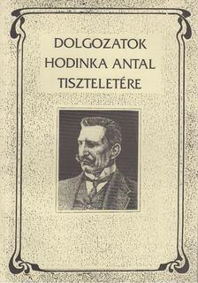 Udvari István - Dolgozatok Hodinka Antal tiszteletére [antikvár]