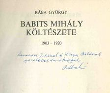 Rába György - Babits Mihály költészete (dedikált) [antikvár]